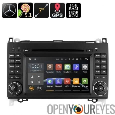 doppel din android doppel din car dvd player f 252 r mercedes b200 7 zoll android os cpu 3g dongle