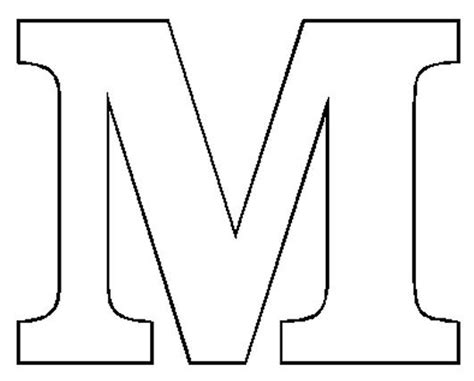 Large Letter M Template - Costumepartyrun