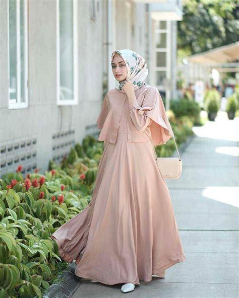 model gamis lebaran  desain elegan casual  modern