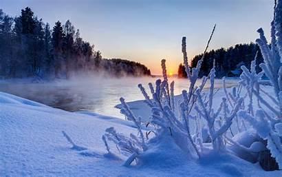 Winter Wallpapers Desktop Scenes Scenery Sunset Wallpapersafari