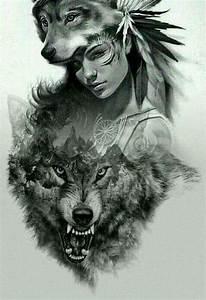 Native American Wolf Tribal Tattoo | www.imgkid.com - The ...