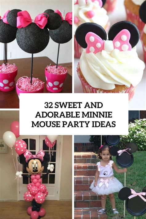sweet  adorable minnie mouse party ideas shelterness