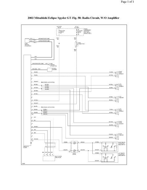 wiring diagram for 2003 mitsubishi eclipse wiring get