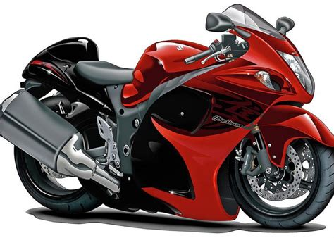 Suzuki Hayabusa Red-black Bike Greeting Card For Sale By