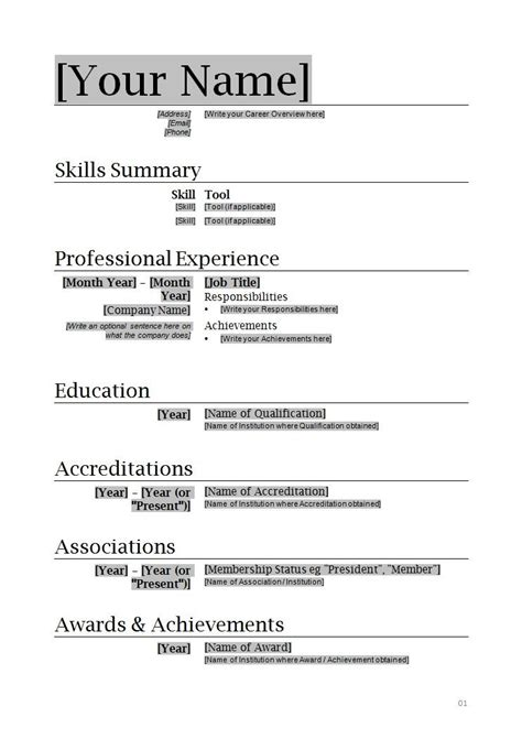 Resume Template Word by Resume Templates Microsoft Word Want A Free