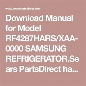 Download Manual For Model Rf4287hars  Xaa
