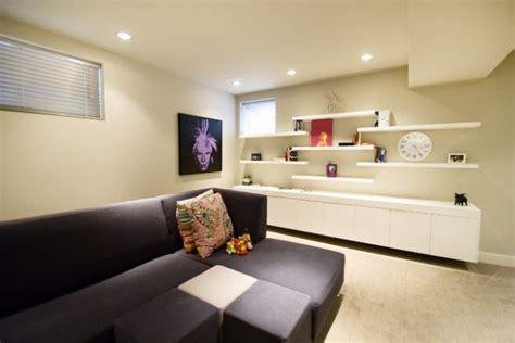 decorate  living room  floating shelves
