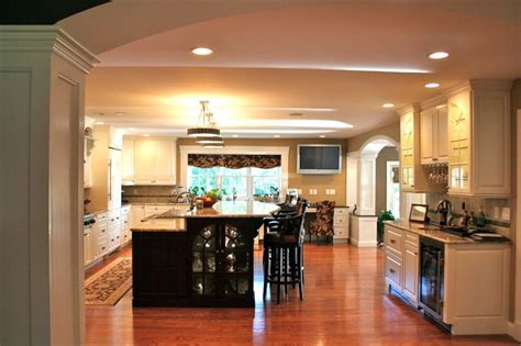 colonial kitchen  great room addition traditional