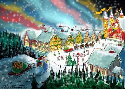 Santa S Workshop Wallpaper Animated - pole santa s workshop drawings