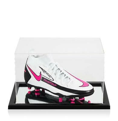 Kevin De Bruyne Signed White Nike Phantom Boot In Acrylic ...