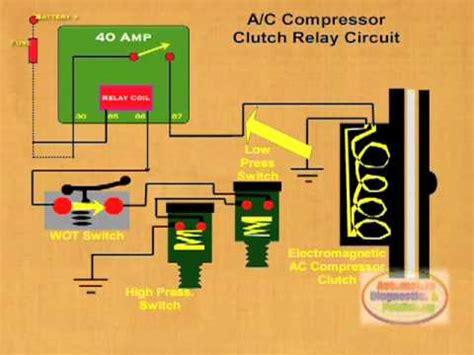 wire ac compressor clutch relay youtube