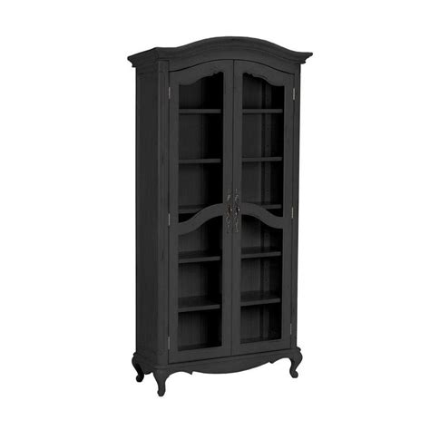 Black Glass Bookcase by Home Decorators Collection Provence Black Glass Door