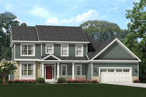 bed colonial house plan   car garage glv architectural designs house plans