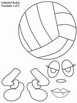 Volleyball Coloring Buddy Pages Colornimbus sketch template