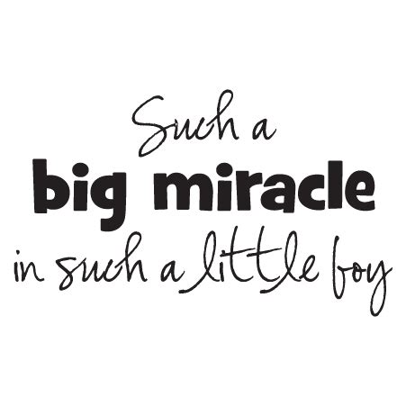 big miracle  boy wall quotes decal wallquotescom