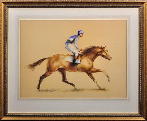 john rattenbury skeaping racehorse  jockey  stdibs
