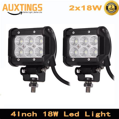 assem 18w led spot work 2pcs 4inch 18w led work light bar for motorcycle tractor