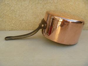 williams sonoma copper pan cookware hammered heavy villedieu france rare read ebay