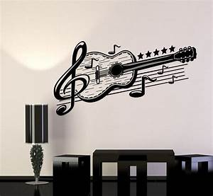 vinyl wall decal guitar musical art music decor stickers With music wall art