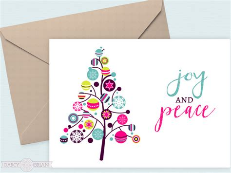 joy  peace  printable holiday cards
