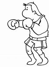 Boxing Coloring Pages Boxer Clipart Cartoon Rocky Balboa Cliparts Clip Popular Library Template Coloringhome sketch template