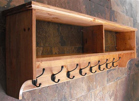 wall mounted coat rack with shelf wide hat coat rack with shelf wall mounted solid wood