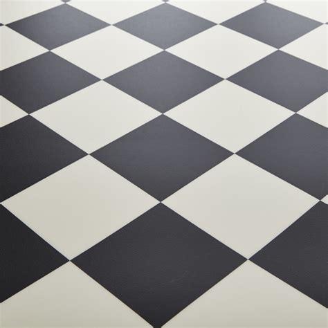 rhino chion pisa black white chequered tile vinyl