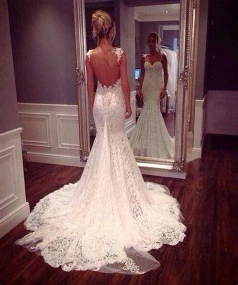 Wedding Dresslace Mermaid Backless Wedding Dressmermaid