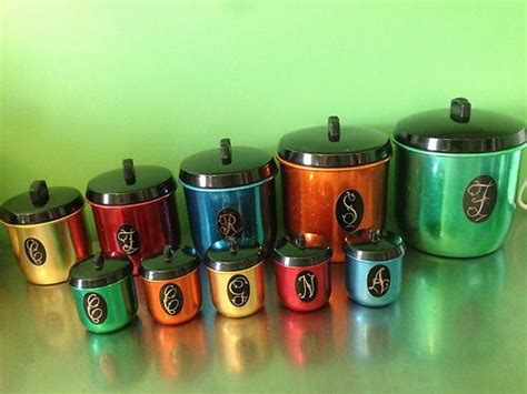 Canister Sets Australia by Retro Vintage Anodised Jason Canister Set Matching Spice
