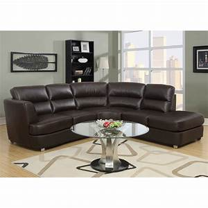 shop monarch specialties 3 piece dark brown bonded leather With 3 piece brown leather sectional sofa