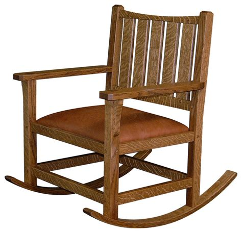 arts and crafts rocking chair traditional rocking