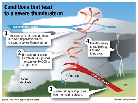 Simple Thunderstorm Diagram by Anatomy Of A Thunderstorm Brian Johnson Aviation