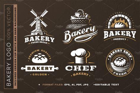 bakery logo set creative illustrator templates