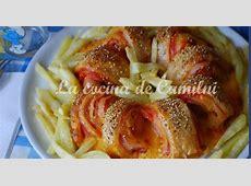 La cocina de Camilni Rosca de hojaldre con salchicha