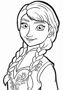 Princess Anna - Free Colouring Pages