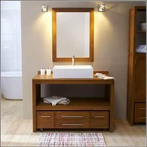 Bad waschtisch unterschrank holz badezimmer house und for Bad waschtisch holz