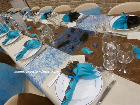 photo table d 233 co de table bleu turquoise marron 7 jpg 821 215 616 anniversaire papa