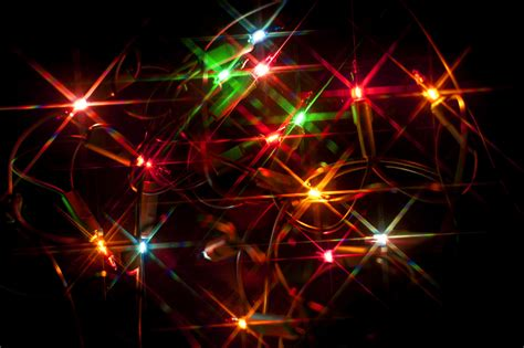 stock photo  colourful christmas lights
