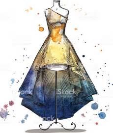 fashion boutique manequim um vestido longo desenho de moda vetor e