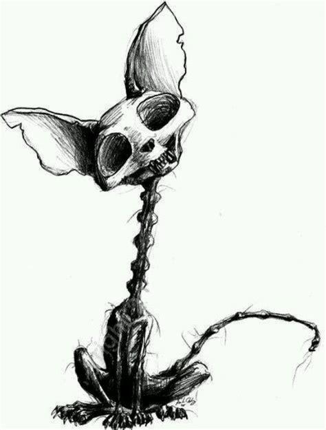 dead kitty cat tattoos creepy drawings art drawings