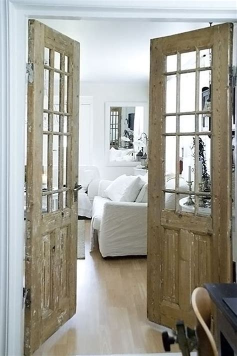 rustic interior french doors video
