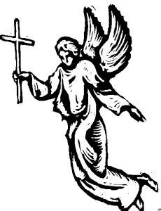 Engel Mit Kreuz Ausmalbild & Malvorlage (religion