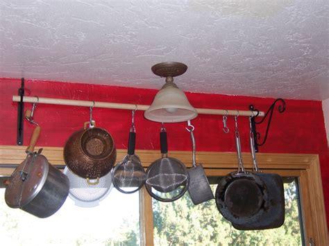 Pot And Pan Wall Rack With Classic Pots And Pans Bar Rack