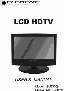Element 19le30q User Manual Lcd Television Manuals And