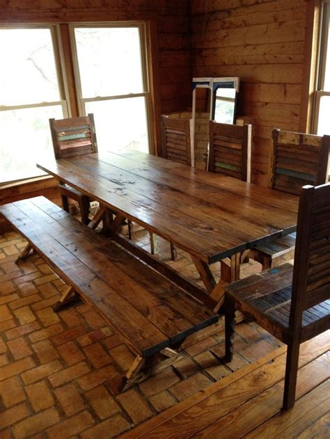 rustic dining room tables images  pinterest