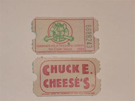 Chuck E. Cheese's Tickets   I won an awful lot of these. I ...
