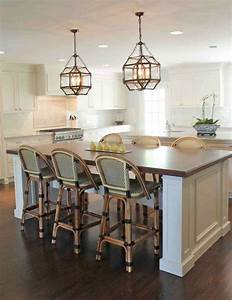 Pendant lighting island bench : Great pendant lighting ideas to sweeten kitchen island