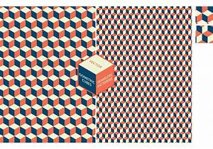 Free Isometric Cubes Seamless Vector Patterns - Download ...