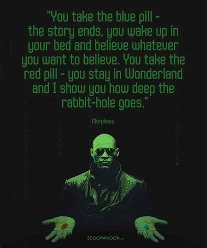 Quotes Matrix Morpheus Pill Neo He Choice