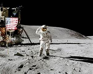 Apollo 16 Charles Duke Salutes Flag on Moon Photo Print ...